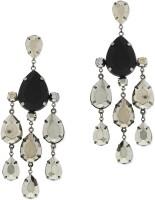 Oomph Black & Grey Dangling Metal Chandelier Earring