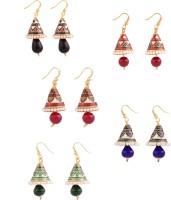 Makezak Jaipuri Meenakari Brass Earring Set