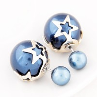 Cilver Fashion Trendy Double Sided Alloy Plug Earring