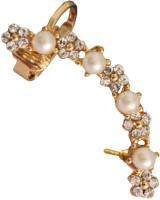 Beingwomen Elegant Floral Pearl Alloy Cuff Earring