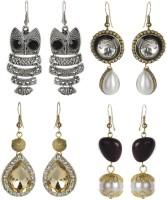 The Pari Alloy Yellow Gold Earring Set