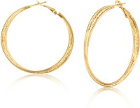 BIG Tree BT EAR 18K Yellow Gold Plated Alloy Hoop Earring