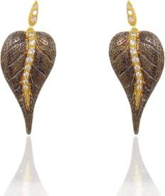 Chandrika Pearls Beautiful Cubic Zirconia Copper Stud Earring