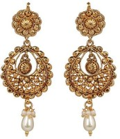 ACW Gold Plated Chand Bali With Pearl Metal Chandbali Earring