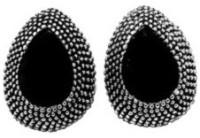 Bling-Bling Drop Black Metal Alloy Stud Earring