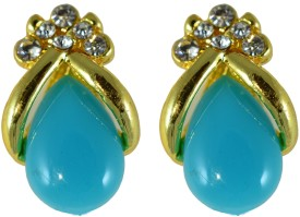 Suvini Pretty Shape Adorned with Colored Stone Alloy Stud Earring