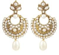 Bling N Beads Antique Pearl Alloy Chandbali Earring