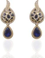 Adya 22K Yellow Gold Diamond Alloy, Enamel, Crystal Drop Earring