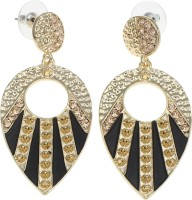 Golden Peacock Style Diva Alloy Drop Earring