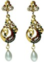 Veneessa Peacock Pear Alloy Drop Earring