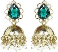 Fida Classic Gold And Green Copper Jhumki Earring