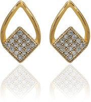 Dhruvi Creation By Zaveri Pearls Contemporary Brass Stud Earring