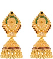 Paliwal Jewelers Sceptre Love 22 K Gold Jhumki Earring