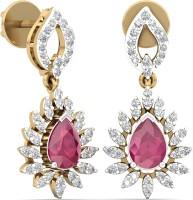 WearYourShine By PCJ The Meskie Diamond 18 K Diamond, Ruby Gold Drop Earring