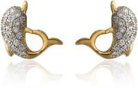 Dhruvi Creation By Zaveri Pearls Dolphin Pattern Brass Stud Earring