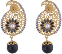 The Jewelbox Cubic Zirconia Brass Drop Earring
