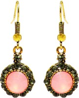 Jewelz Sparkling Pink Rose Gold Plated Metal Dangle Earring