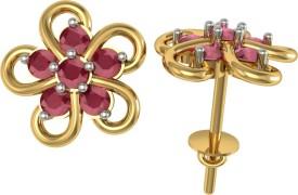 Suvarnadeep Nakshtra 18 K Swarovski Crystal Gold Stud Earring