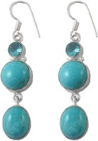 Zakaah Jewels Larimar & Blue Topaz Alloy Dangle Earring