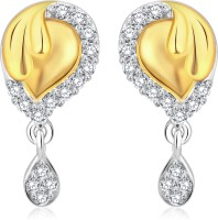 Classic Goregous Gold And Rhodium Plated Earrings For Women [CJ1022ERG] 18 K Cubic Zirconia Alloy Drop Earring