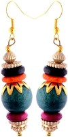Gliteri Bohemian Style Multicolour Wood Dangle Earring