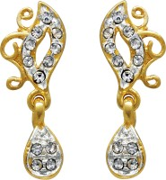 Ilina 18K Yellow Gold, Rhodium Plated Cubic Zirconia Alloy Drop Earring