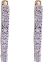 Affinity Jewellers 18K Yellow Gold K Zircon Alloy Hoop Earring