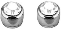 Vaishnavi First Quality Korean Made Non-Allergic 9 Mm Powerful Shining 316L Cubic Zirconia Stainless Steel Magnetic Earring