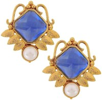 The Jewelbox Filigree Geometric Yellow Gold Copper Stud Earring