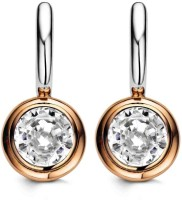 Ziveg Ziveg 92.5 Sterling Silver Earring Made With Swarovski Zirconia Swarovski Crystal Sterling Silver Drop Earring