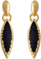 Golden Peacock Style Diva 18K Yellow Gold Plated Cubic Zirconia Alloy Dangle Earring