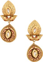 Voylla Yellow Gold Plated Cubic Zirconia Alloy Dangle Earring - ERGDY8S9AH5UFDZ8