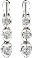 Ziveg Ziveg 92.5 Sterling Silver Earring Made With Swarovski Zirconia Sterling Silver Silver Drop Earring