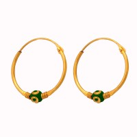 Camy Real Choice 18K Yellow Gold Plated Alloy, Brass Hoop Earring
