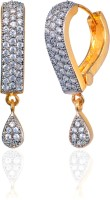 Alysa Aatirah 18K Yellow Gold, Rhodium Plated Cubic Zirconia Brass, Alloy, Silver Drop Earring