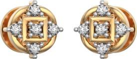 I Love Diamonds Diamante Darling in Yellow Gold Earrings 18 K Diamond Yellow Gold Stud Earring