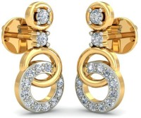 Gold Adorn.com The Loop-In-Loop 14 K Swarovski Crystal Gold Stud Earring