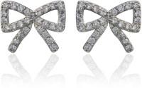 Dhruvi Creation By Zaveri Pearls Bow Brass Stud Earring