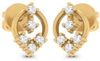 Aamanat Glitter 18K Yellow Gold Plated Sterling Silver Stud Earring