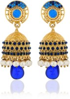 Zaveri Pearls Gorgeous Matte Plated Blue Zinc Jhumki Earring
