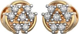 I Love Diamonds Baroque Dance Earrings 18 K Diamond Yellow Gold Stud Earring