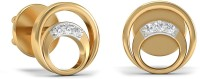 WearYourShine By PCJ The Misha Diamond 18 K Diamond Gold Stud Earring