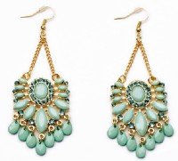 Aaishwarya Cyan Fashion Boho Style Alloy Dangle Earring