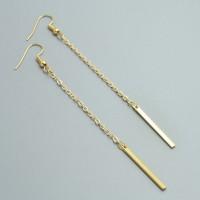 Fabula Fabula's Delicate Gold Dangling Earrings Metal Dangle Earring