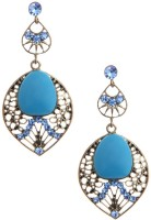Nirosha Ultra Chic Bohemian Style Crystal Alloy Drop Earring