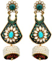 Fabroop The Lovely Pair Of Stud Add A Huge Amount Of Stylish Punch. Pearl Alloy Drop Earring