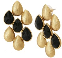 The Jewelbox Dew Drop Yellow Gold Plated Copper Drop Earring