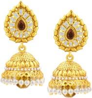 Sukkhi Attractive Jhumki Gold Plated American Diamond Alloy Jhumki Earring