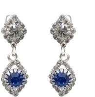 Bansalandco Stylish Blue Stone Metal Drop Earring