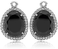 Ziveg Ziveg 92.5 Sterling Silver Earring Made With Swarovski Zirconia- Limited Edition Black Silver Swarovski Crystal Sterling Silver Dangle Earring